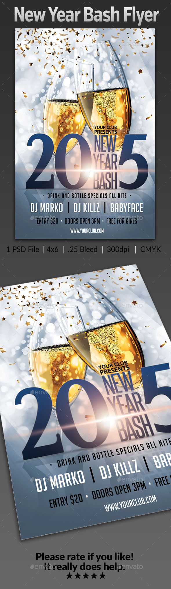 GraphicRiver New Years Eve Bash Flyer 9601698