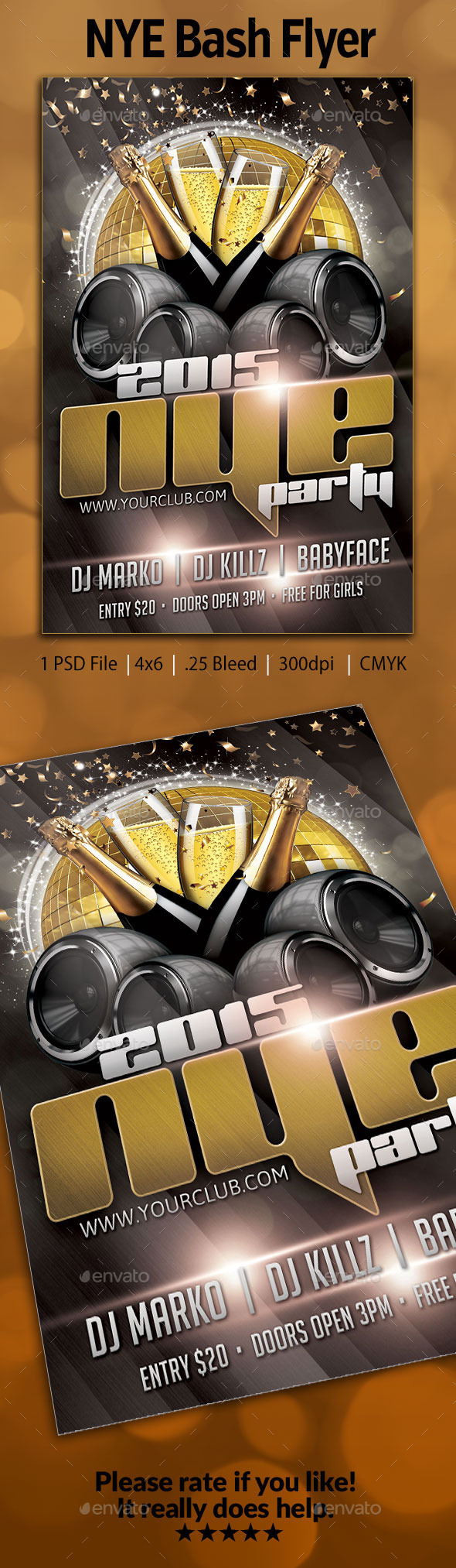 GraphicRiver NYE Bash Flyer 9601704