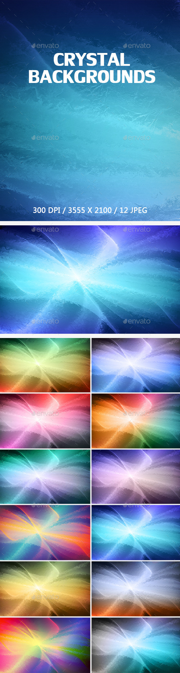 12 Crystal Backgrounds