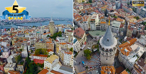 Aerial View of Galata Tower 2