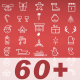 63 Christmas Icons + Logo Reveal - VideoHive Item for Sale