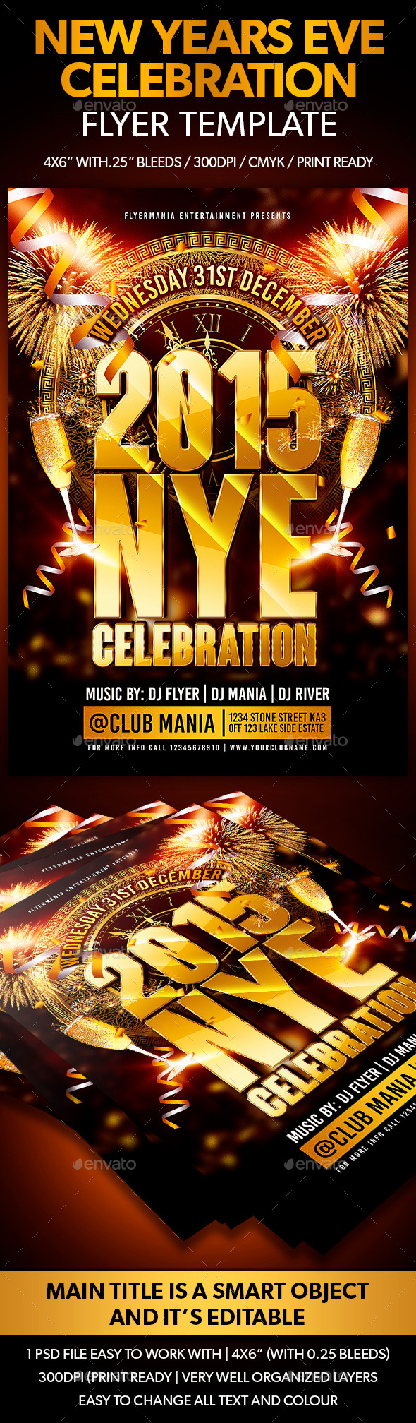 GraphicRiver New Years Eve Celebration Flyer Template 9601952
