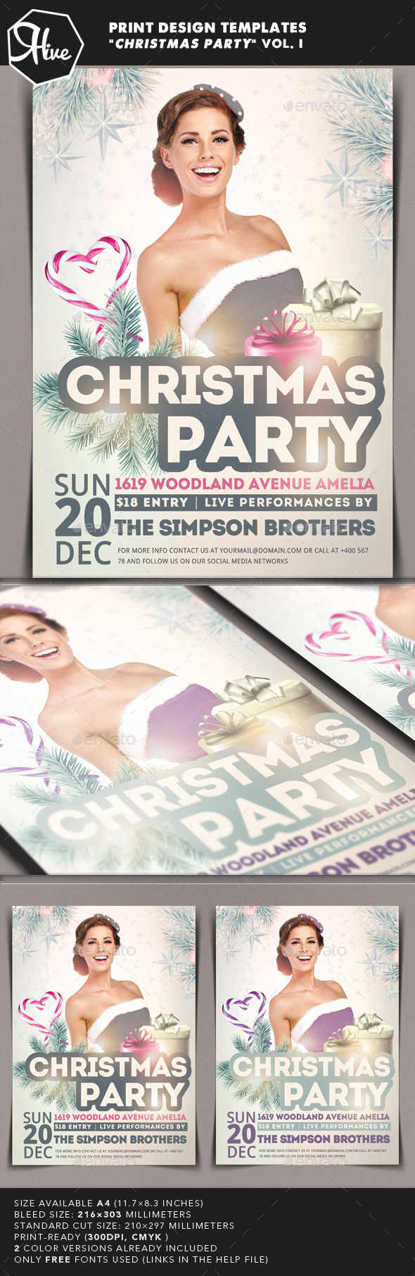 GraphicRiver Christmas Party Flyer 9601997
