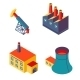 Isometric Factories - GraphicRiver Item for Sale
