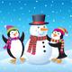 Penguins Making A Snowman - GraphicRiver Item for Sale
