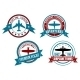 Airplane Tours and Adventures Badges - GraphicRiver Item for Sale