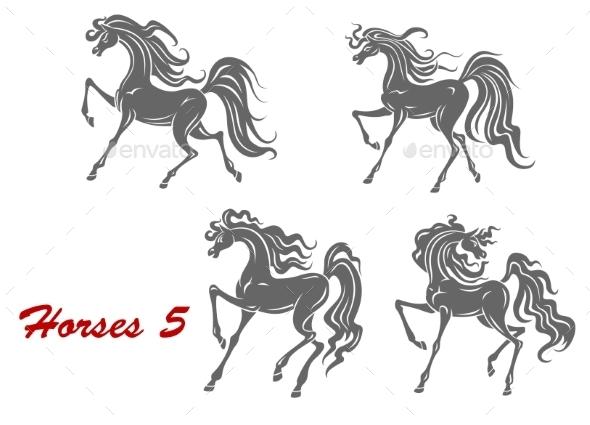 GraphicRiver Gray Horses 9602195