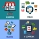 Business and Shopping Flat Concept - GraphicRiver Item for Sale
