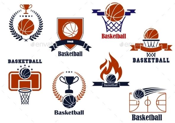 GraphicRiver Basketball Tournament and Emblem Designs 9602201