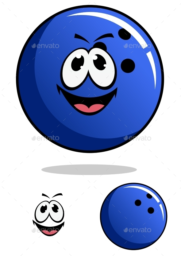 GraphicRiver Bowling Ball Cartoon 9602260