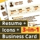 Chocalate: Resume Template + Icons + Business Card, 3-in-1 Deal - GraphicRiver Item for Sale