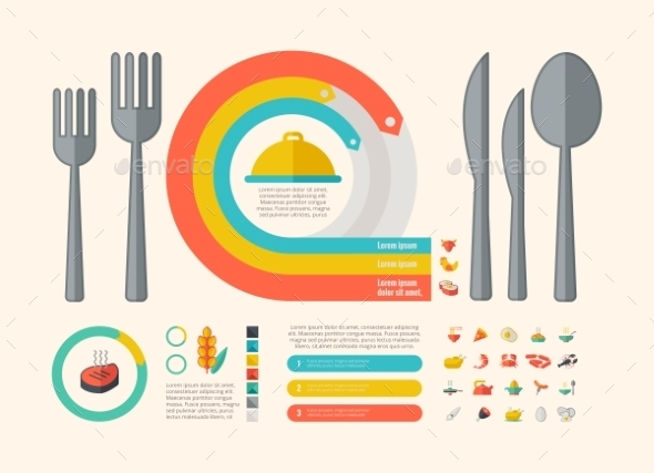 GraphicRiver Food Infographic Elements 9602510
