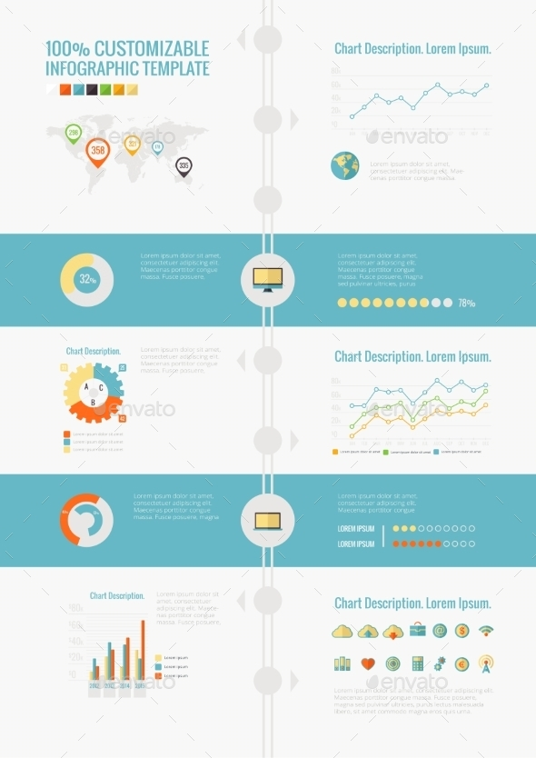 GraphicRiver Technology Infographic Elements 9602516