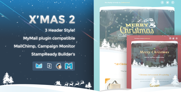 ThemeForest X mas 2 Responsive Email Template 9602616