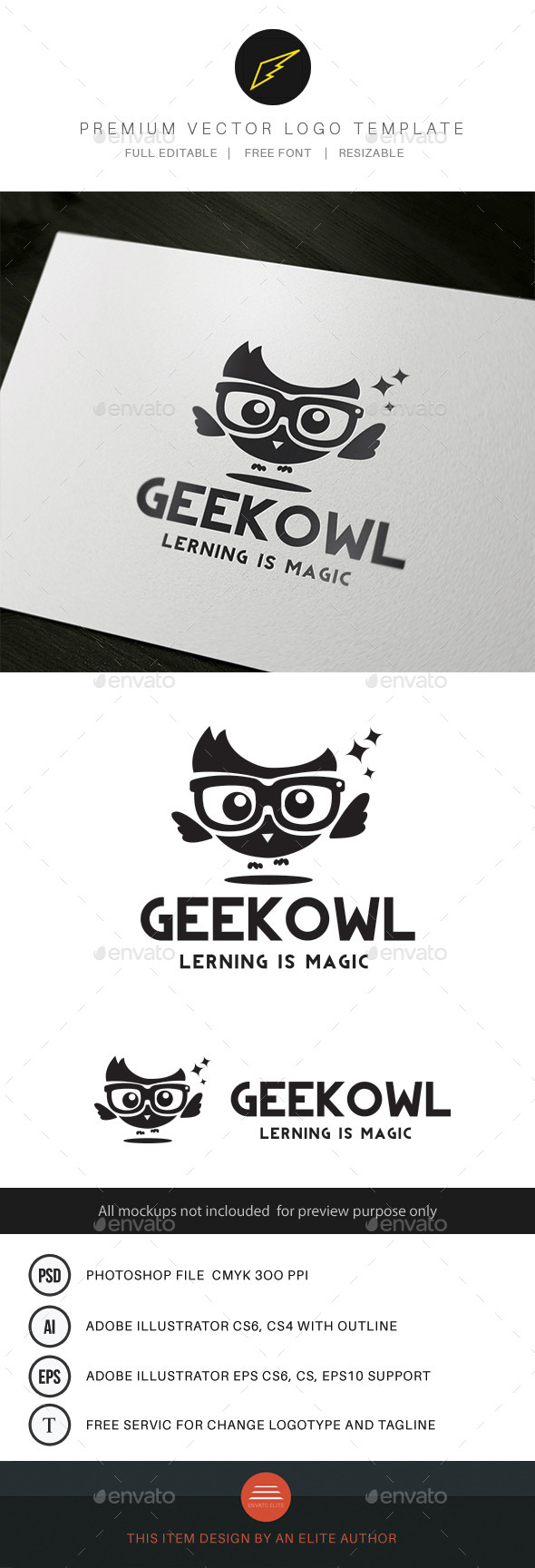 GraphicRiver Geek Owl 9602618