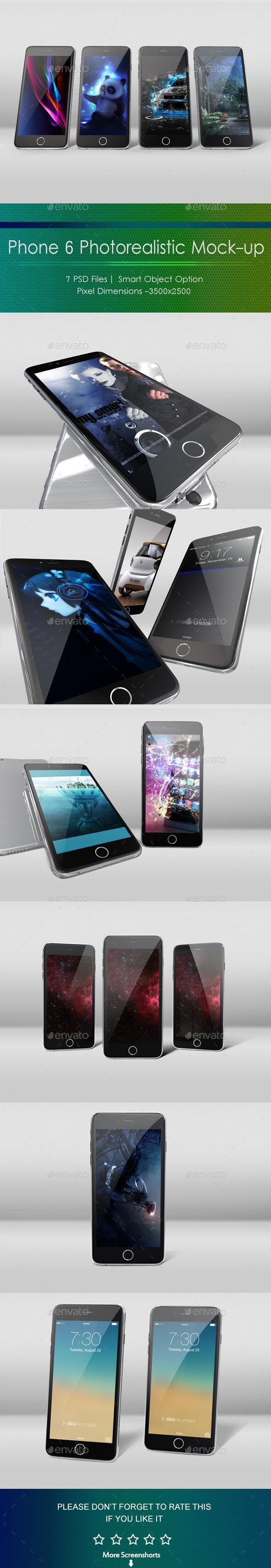 Phone 6 Photorealistic Mockup