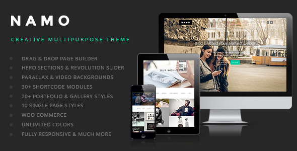 NAMO - Creative Multi-Purpose Wordpress Theme - Creative WordPress