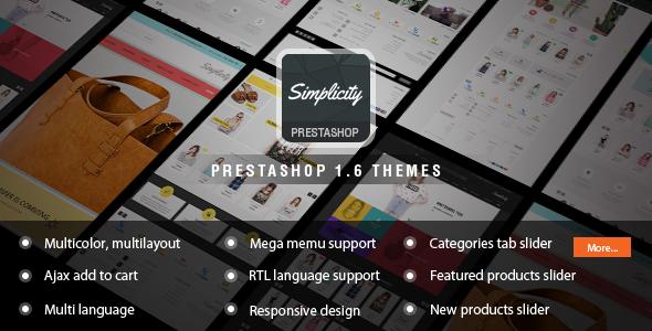 ThemeForest Simplicity Responsive Prestashop Theme 9603526