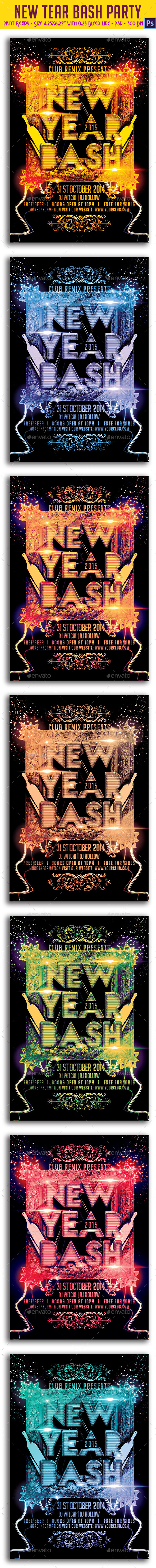GraphicRiver New Year Bash Party Flyer 9603529