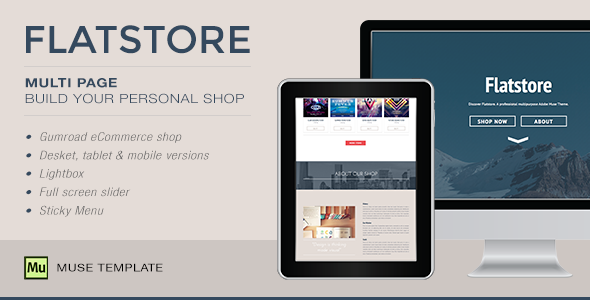 Flatstore - eCommerce Muse Template - eCommerce Muse Templates