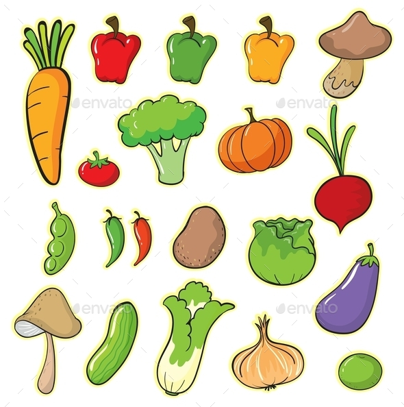 GraphicRiver Vegetables 9603949