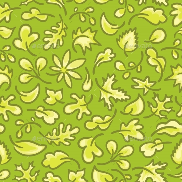 GraphicRiver Seamless Pattern with Leaves 9603953