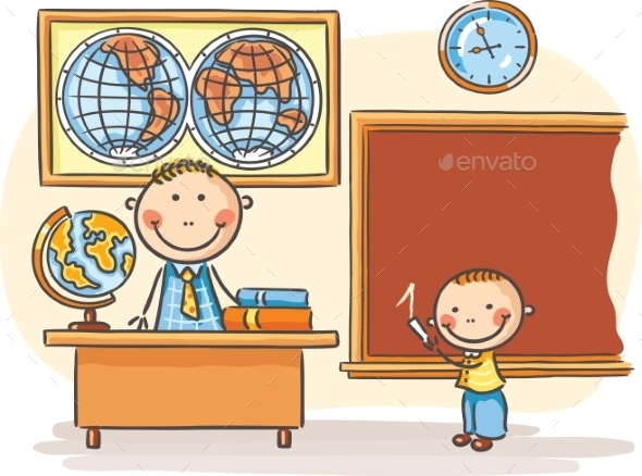 GraphicRiver Teacher and a Pupil 9603961