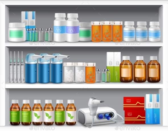 GraphicRiver Pharmacy Shelves 9604232