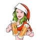 New Year Girl Beer - GraphicRiver Item for Sale