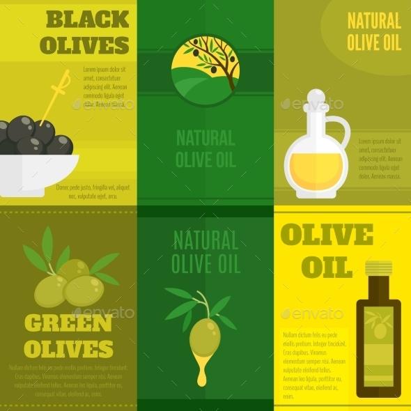 GraphicRiver Olives Mini Poster Set 9604603