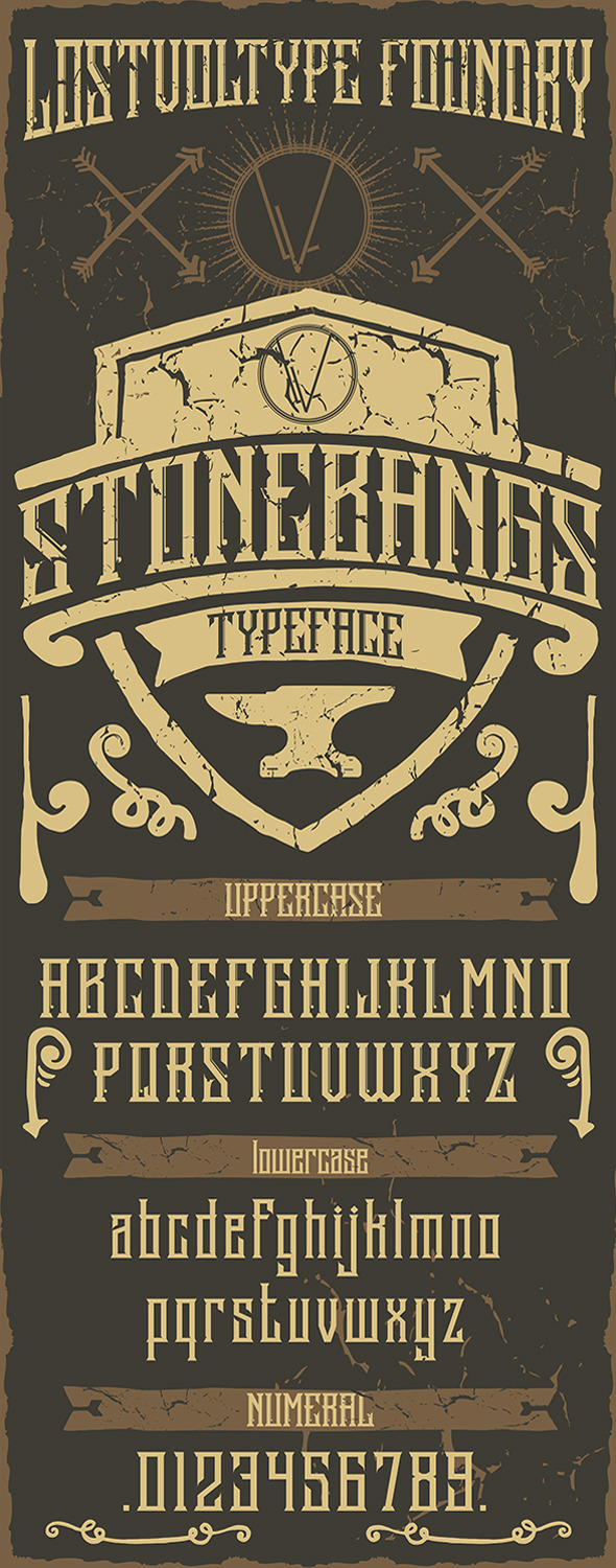 GraphicRiver Stonebangs Typeface 9604669