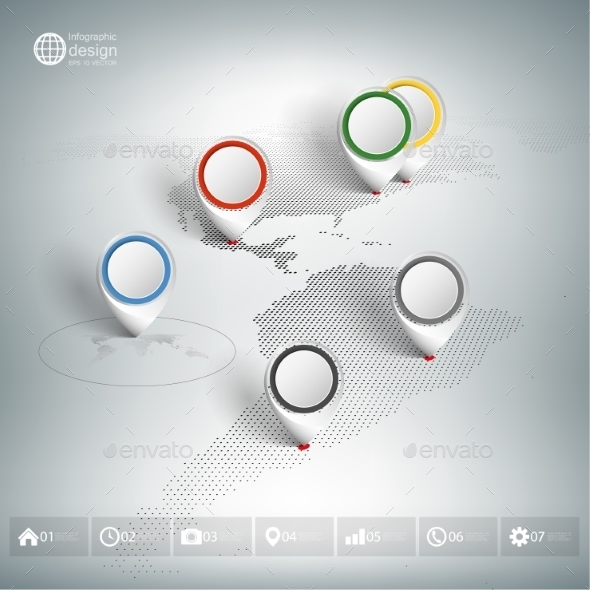 GraphicRiver World Map with Pointers 9604898