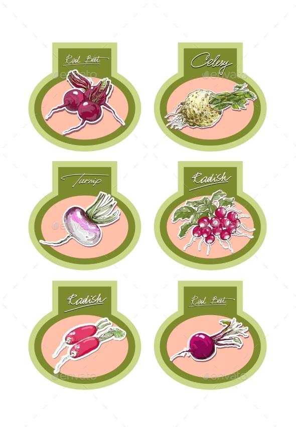 GraphicRiver Set of Vegetables 9605267