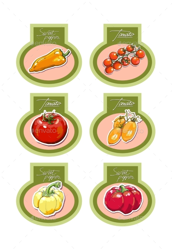 GraphicRiver Set of Vegetables 9605281