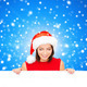 woman in santa helper hat with blank white board - PhotoDune Item for Sale