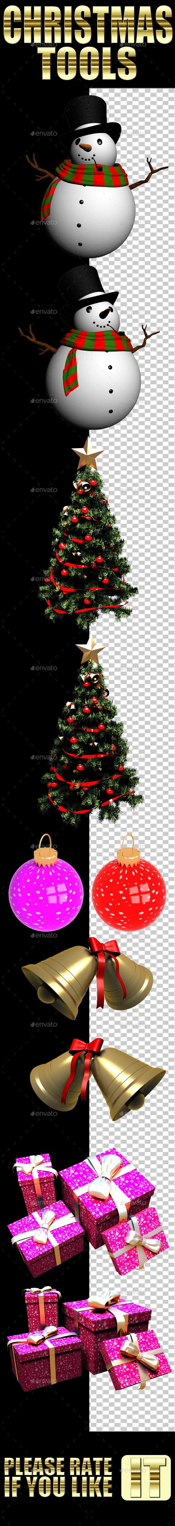 GraphicRiver Christmas Tools 9605748