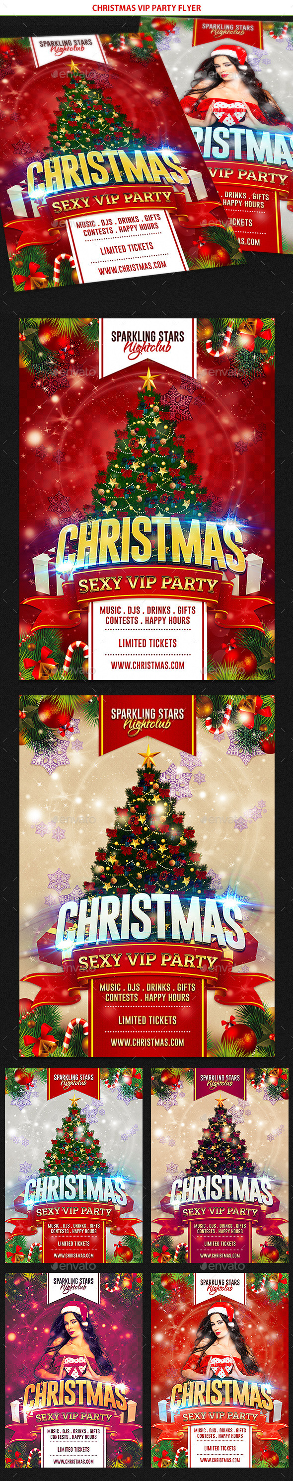 Christmas VIP Party Flyer