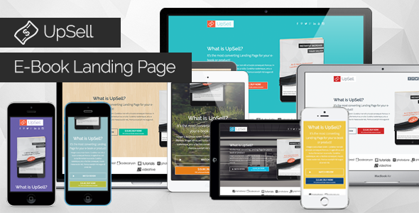 ThemeForest UpSell E-Book Landing Page 9529258