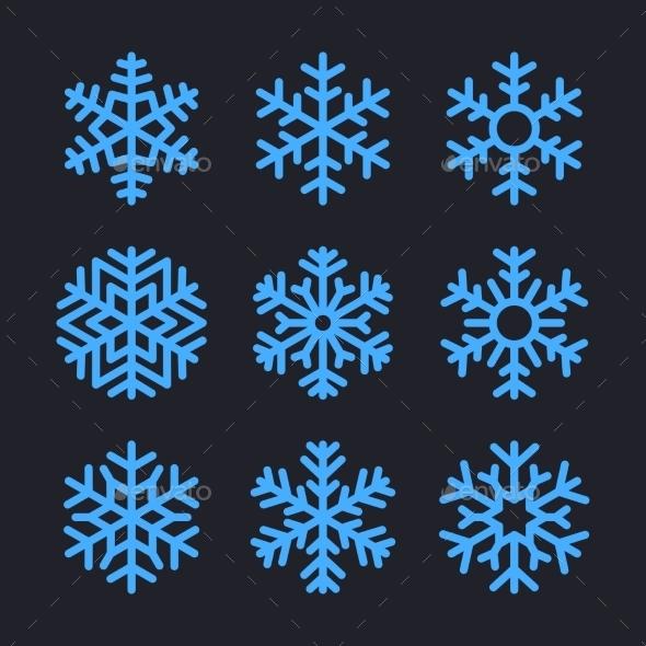 GraphicRiver Snowflakes 9606060