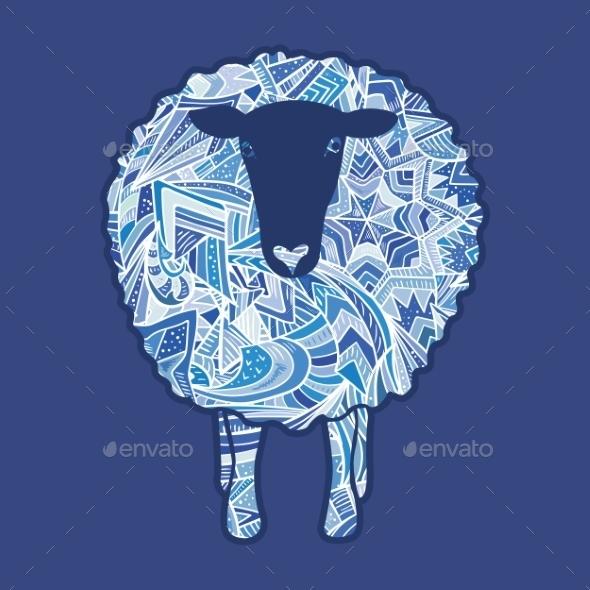 GraphicRiver Aztec Ornament Sheep 9606094