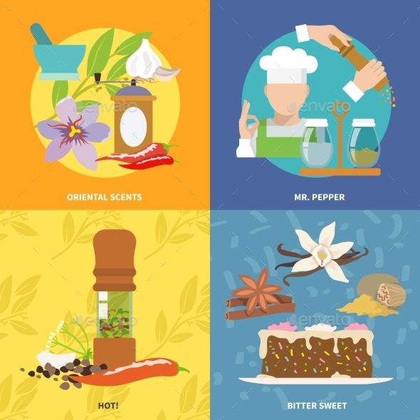 GraphicRiver Spices Icons Flat 9606110