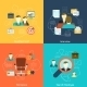 Human Resources Flat Icons Composition - GraphicRiver Item for Sale