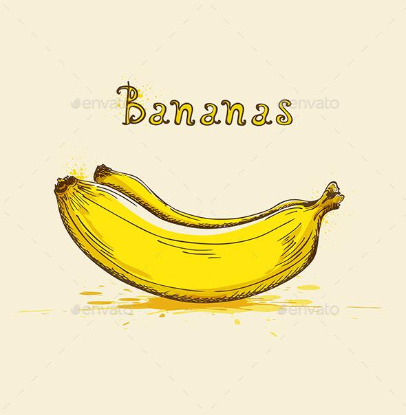 GraphicRiver Yellow Ripe Bananas 9606119