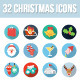 32 Christmas Icons - GraphicRiver Item for Sale
