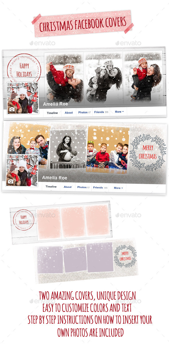 GraphicRiver Christmas Facebook Covers 9606246