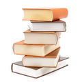 Books stacked on a white background. - PhotoDune Item for Sale