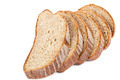 Stack of slices of bread on white background. - PhotoDune Item for Sale