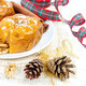 Baked apples with nuts and cinnamon on white background. - PhotoDune Item for Sale