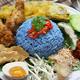 nasi kerabu, blue color rice salad, malaysian cuisine - PhotoDune Item for Sale