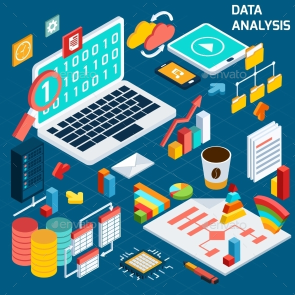 GraphicRiver Data Analysis Isometric 9606414